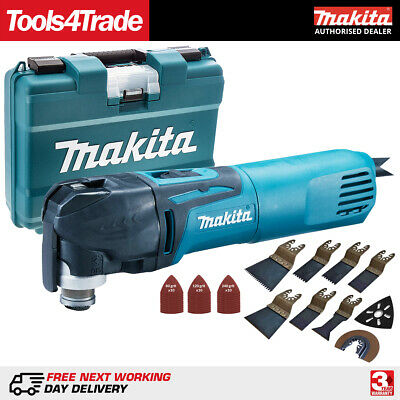 Makita TM3010CK 240V MultiTool Quick Change Blade with 39 Piece Accessories Set