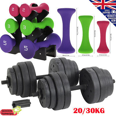 40kg Dumbbell Set Gym Cast Iron Free Weights Biceps Gym Workout Training Fitness
