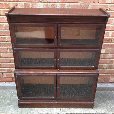 Antique Bookcase Glazed Door Cabinet Minty Ltd Oxford Old Vintage Legal Library
