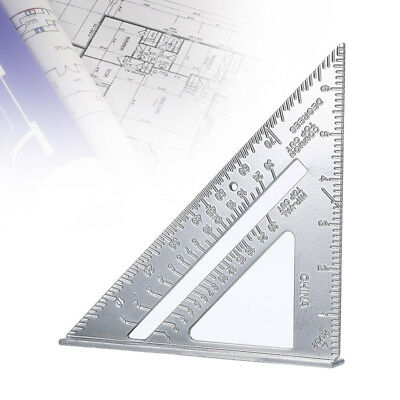 "7"" Aluminum Alloy Tri-Square Protractor Miter Measurement Ruler Carpenter DIY H1"