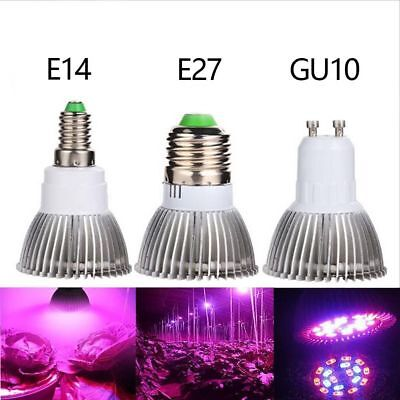 E27/E14/GU10 Grow LED Light Spectrum Hydroponic Plant Seed Growing Lamp Bulb New