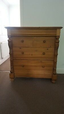 Antique Pine Chest Of Drawers 5 drawers Beautifully Crafted
