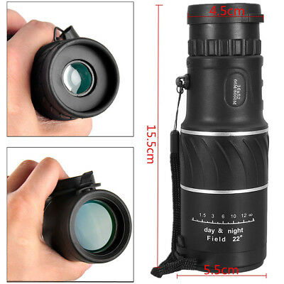 High Power Zoom Monocular Telescope Scope Prism 16x52 For Adults Bird Watching