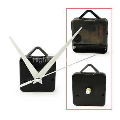 New Quartz Wall Clock Movement Mechanism Long White Hands DIY Repair Parts Kit