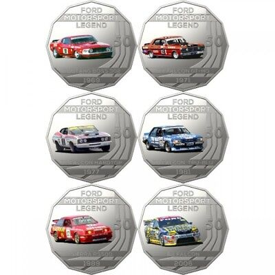 2018 50c Ford Motorsport Collection Uncirculated Six Coin Set