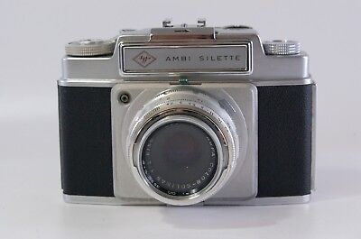 rangefinder 35mm camera Agfa Ambi Silette with Solinar 50mm 2.8 Ref. 38186