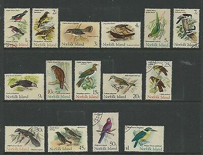 1970 Birds set of 15 Complete set Mixed Mint Unhinged & CTO as per Scan