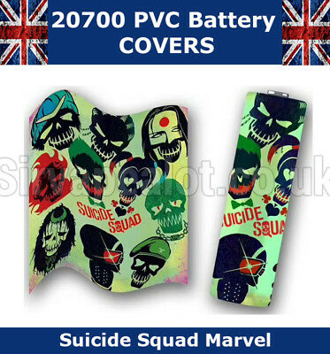 5x Suicide Squad 20700 Battery Wraps PVC Heat Shrink Wrap Battery covers VAPE