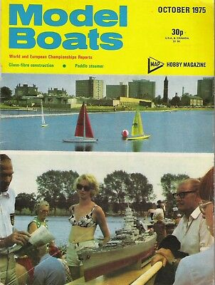 Model Boats Magazine. Volume 25, No. 297, October, 1975. Paddle Steamer.