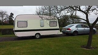 4 berth vintage caravan/mini mobile gallery space. Spares and repairs.