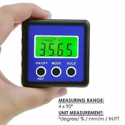 Digital Box Gauge Angle Protractor Level Inclinometer Magnetic Base 0 - 360° NEW
