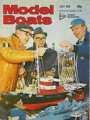 Model Boats Magazine. Volume 28, No. 329, July, 1978. Trapper Marblehead.