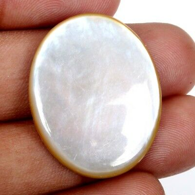 Stunning Flat 24.50 Cts MOTHER OF PEARL For Jewellery Gemstone 29x23 mm S-35371