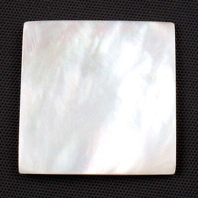 Natural MOTHER OF PEARL SHELL 26x26 mm Square Flat Loose Gemstone 29 Cts S-14170