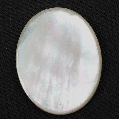 Oval Flat 25 Cts MOTHER OF PEARL SHELL Gemstone 28x22 mm For Jewellery s-21194
