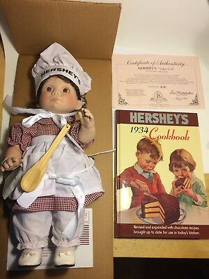 "Collectible Hershey's ""Baker Girl"" Doll with Original Box,COA & Cookbook New!"