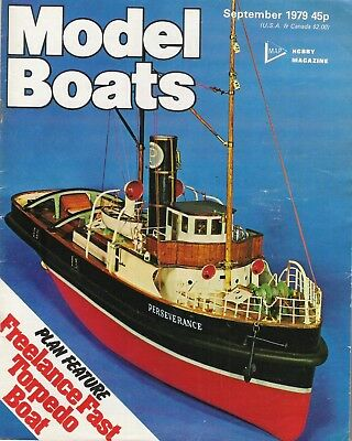 Model Boats Magazine. Volume 29, No. 343, September, 1979. Grimmershorn HMSMidge