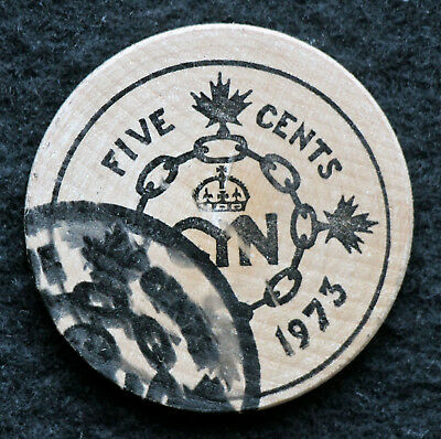 CANADA: C.Y.N. Canadian Young Numismatists Error Wooden Nickel 1973