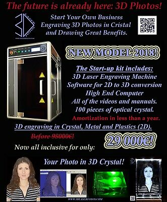 Start your own high profitable business. 3D laser engraving machine.