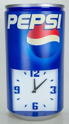 Pepsi Can Clock Advertisement Vintage Large 23'' x 13'' Man Cave Shop Awesome