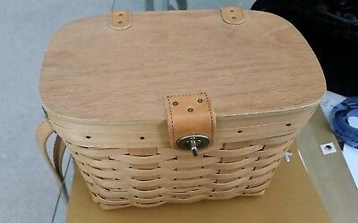 Longaberger 1998 basket purse handbag with liner