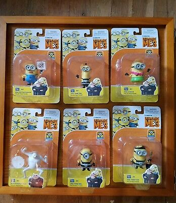 LOT of 6 Despicable Me 3 Collectible Toys Jail Time Tim/Tom Mel Minions Dru