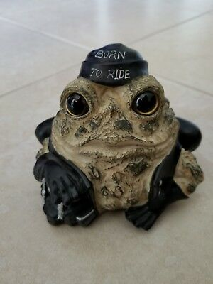 "Toad Hollow Born to Ride Biker Babe 5"" X 4.5"" Motorcycle Figurine"