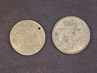 1890 Ottumwa Coal Palace token compliments of Maury and Myers Cigar Co,