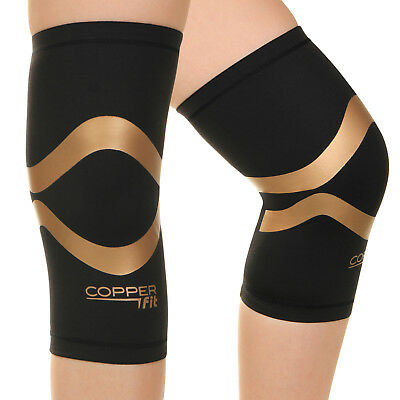 2edb4a215a Copper Fit Pro Series Compression Knee Brace Sleeve Men and Women Fitness  Sports