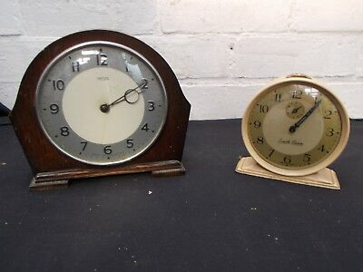Smith's 30 hour mantel clock and alarm clock.