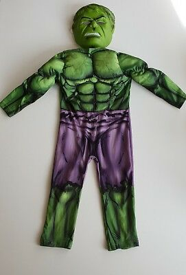 Marvel Incredible Hulk Cosume with mask, age 3/4, Great Condition