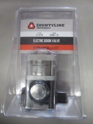 """CountyLine Electric Boom Valve ( 10gpm, 100 PSI, 12V) NEW """"Free Shipping"""""""