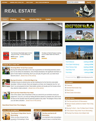 REAL ESTATE - Responsive Niche Website Business For Sale - Free Installation