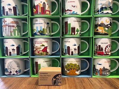 Starbucks YOU ARE HERE YAH Collection Ornament, Mini Mug Limited Edition NWT