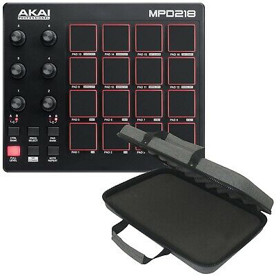 Akai Professional MPD218 MIDI USB Drum Beat Pad Controller with Software + Case