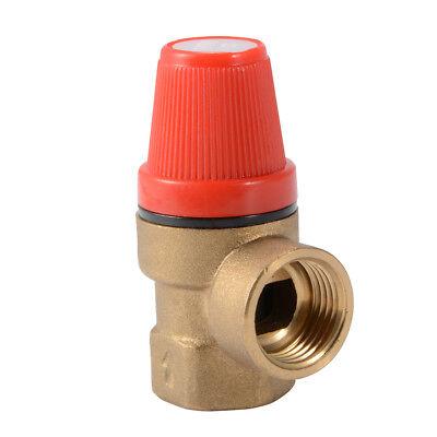 6 Bar Safety Relief Valve FxF for Solar Thermal Boiler Heating System HS1090