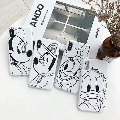 Cartoon Disney Case For iPhone X 6 7 8 Plus Soft TPU Phone Shockproof Cover