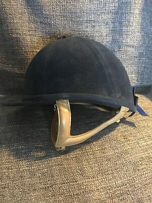 Just Togs Navy Blue/Tan Riding Hat 57cm
