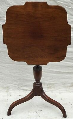 Mahogany Queen Anne Style Antique Candle Stand By Irving & Casson - Early 20Th C