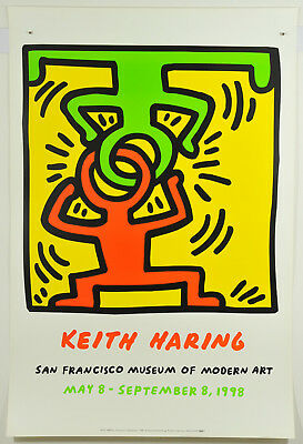 Keith Haring, Drawing for Headstand, Exhibition Graphic 1988