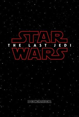 """Star Wars The Last Jedi Teaser A 27"""" X 40"""" Double Sided Theater Poster NEW MINT"""