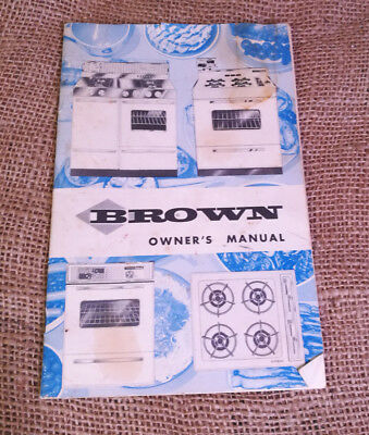 MCM Owners Manual Oven Brown Range Stove