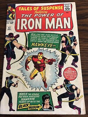Tales Of Suspense #57 - Sept 1964 - First Appearance Hawkeye - Marvel