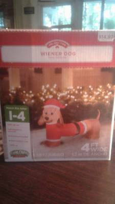 Holiday Time Wiener Dog (Dachshund) Inflatable