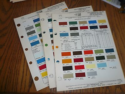 1976 Ford Chevy GMC Dodge AMC Jeep Intern'l Commercial Ditzler PPG Paint Chips