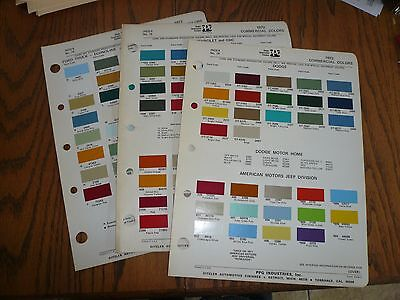 1972 Ford AMC Jeep Chevy GMC Dodge Intern'l Commercial Ditzler PPG Paint Chips