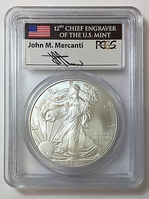 2013 1oz Silver Eagle PCGS MS69 Mercanti Sign First Strike $1 .999 Silver Coin