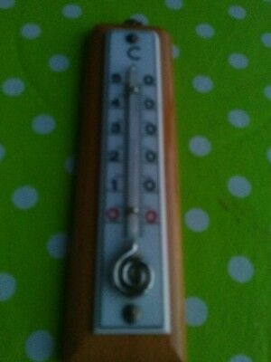 altes Innenthermometer Holz, 50er Jahre