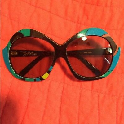2e38654d80 Rare Authentic Emilio Pucci Large Vintage 70 s Sunglasses Free Shipping