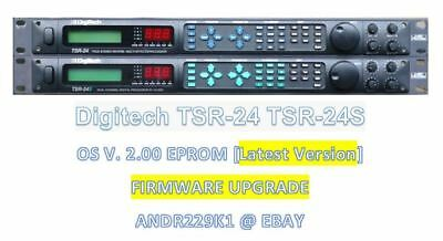 Digitech TSR-24 TSR-24S firmware upgrade chip 2.00 TSR24 EPROM
